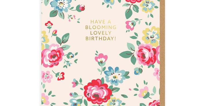 Have A Blooming Lovely Birthday Greeting Card
