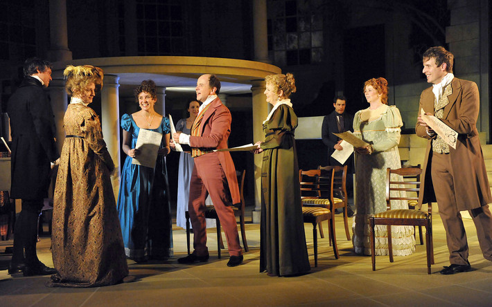 Cast of Persuasion at Salisbury Playhous