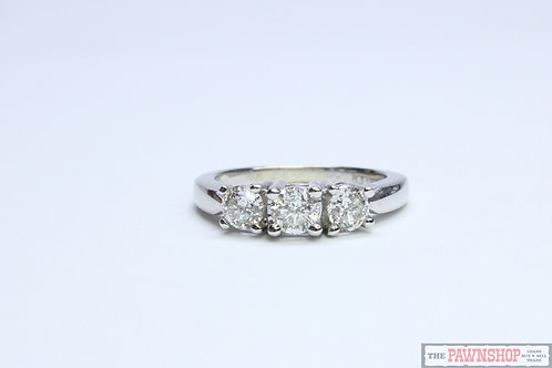 Modern 1.02ct 3 Stone Diamond Ring