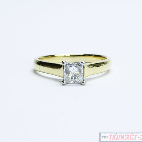 Modern 0.55ct Solitaire Diamond Ring