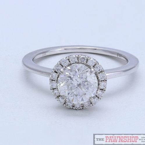 Modern 1.00ct Cluster Diamond Ring