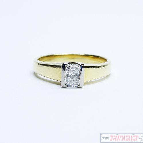 Modern 0.65ct Solitaire Diamond Ring