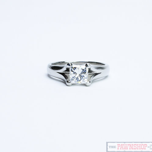 Modern 1.01ct Diamond Solitaire Ring