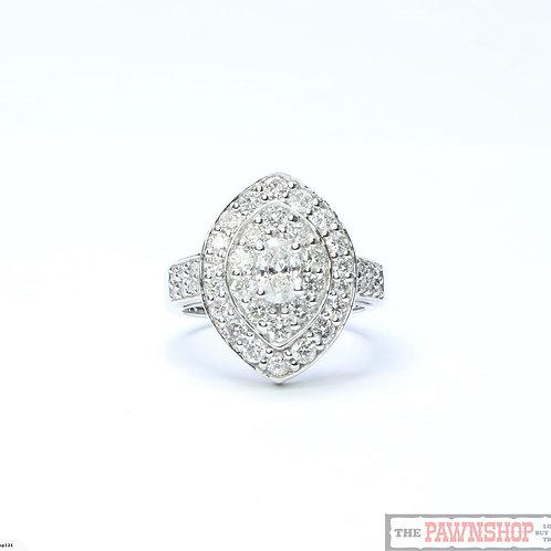 Modern 1.82ct TDW Diamond Cluster Ring