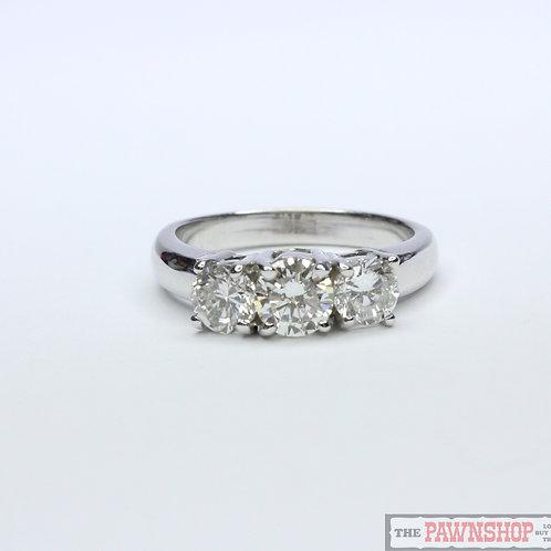 Modern 1.40ct 3 Stone Diamond Ring
