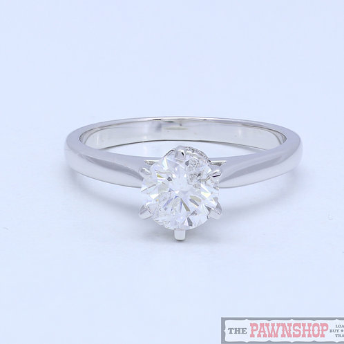 Modern 1.10ct Diamond Solitaire Ring