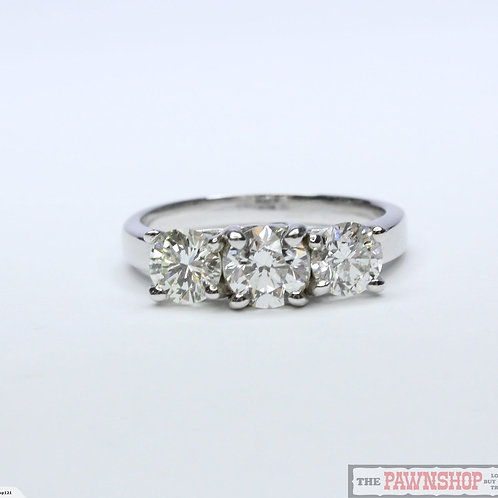 Modern 1.60ct 3 Stone Diamond Ring