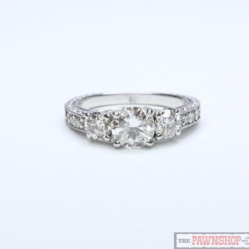 Modern 1.83ct 3 Stone Diamond Ring