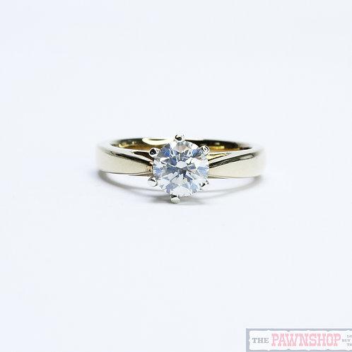 Modern 1.06ct Solitaire Diamond Ring