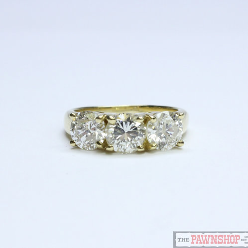 Modern 2.76ct 3 Stone Diamond Ring