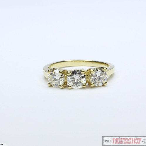 Modern 1.36ct 3 Stone Diamond Ring