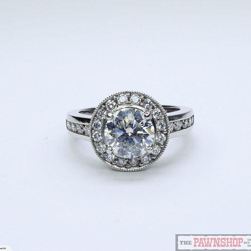 Modern 2.52ct Halo Cluster Diamond Ring