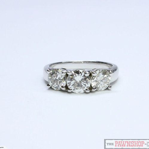 Modern 2.08ct 3 Stone Diamond Ring