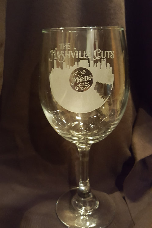 The Official Nashville Cuts Wine Glass