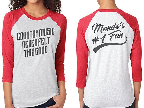 """MONDO'S #1 FAN"" Raglan Shirt"