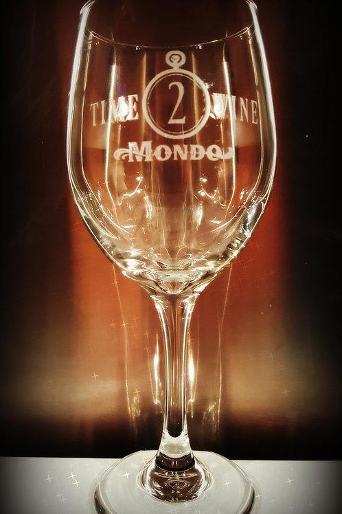 """""""TIME2WINE"""" Mondo Wine Glass"""