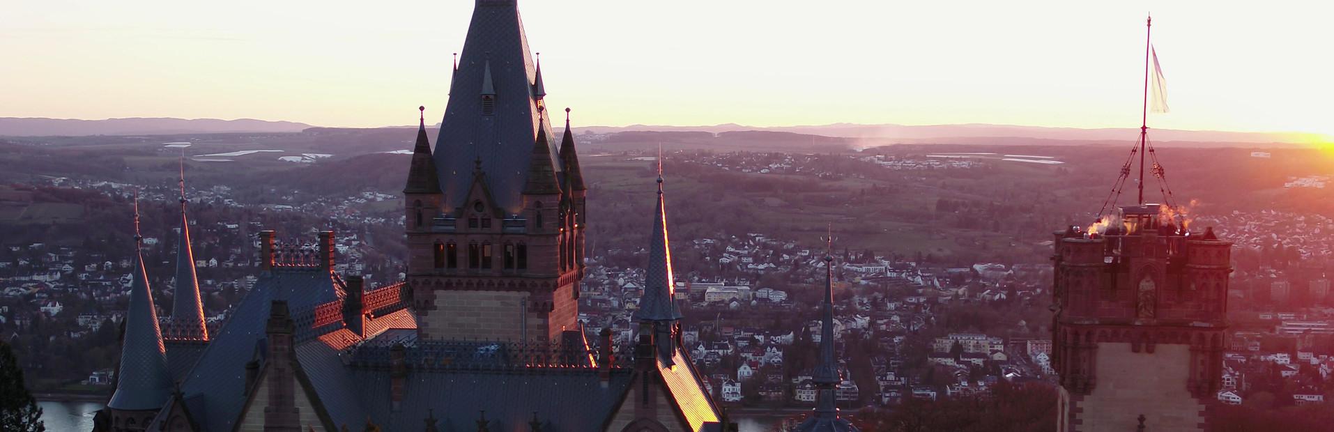 Schloss Drachenburg Luftbilder mit dem Multicopter