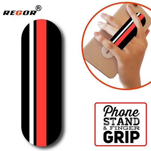 Finger Grip & Selfie Holder - Red Stripes