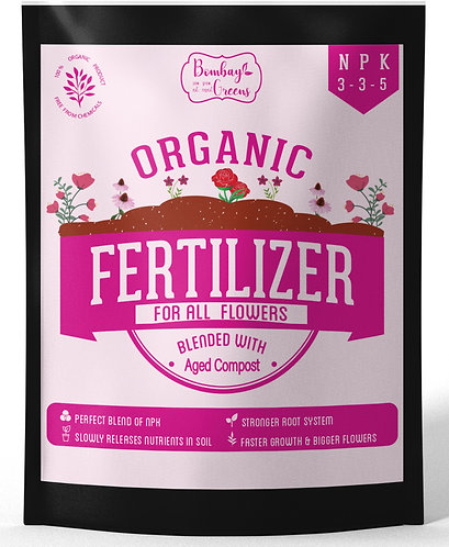 Composted Organic Fertilizer for Roses & Flowers with 3-3-5 NPK - 900 Grams