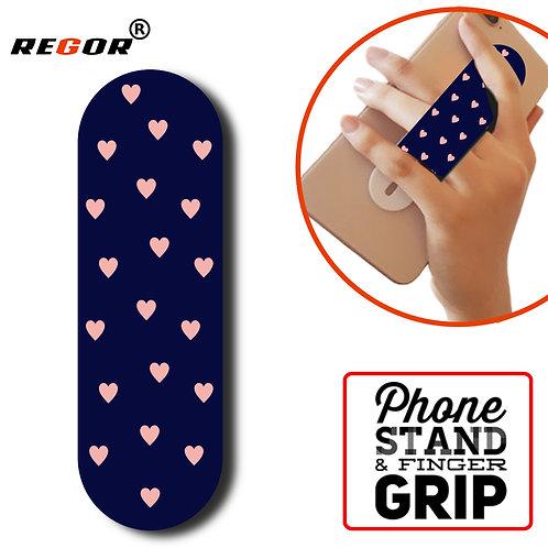 Regor Finger Grip,Selfie Holder Mobile Stand for iPhones & Android - Hearts