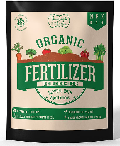 Composted Organic Fertilizer for Vegetables with 3-4-4 NPK - 900 Grams