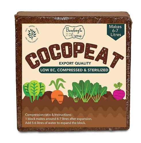 Organic Low EC Cocopeat Block. Makes 7 litres