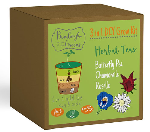 Herbal Teas Kit - Roselle, Butterfly Pea, Chamomile
