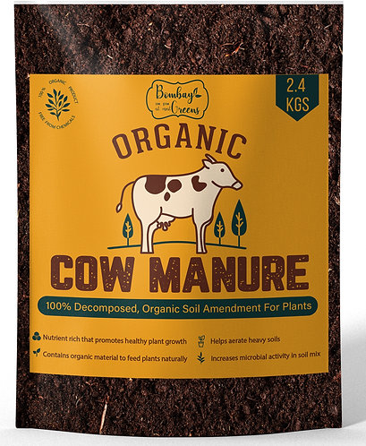 Organic Decomposed Cow Manure - 2.4 Kg