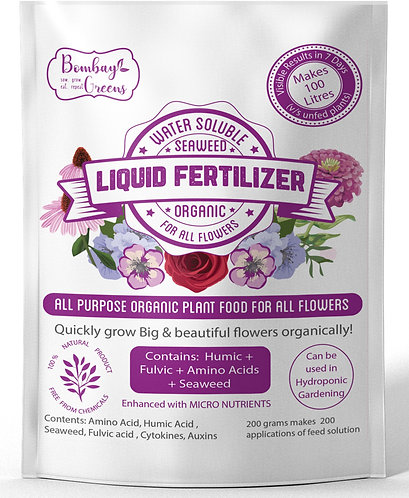 Liquid Organic Fertilizer for All Flowers