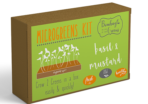 DIY Microgreens Kit - Basil & Mustard
