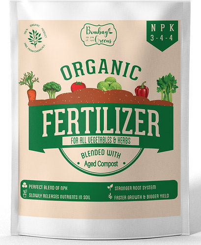 Organic Fertilizer for Vegetables with 3-4-4 NPK - 900 Grams