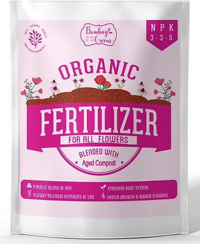 Organic Fertilizer for Roses & Flowers with 3-3-5 NPK - 900 Grams