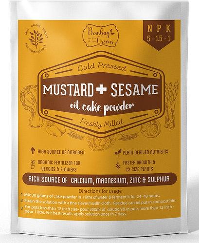 Organic Mustard & Sesame Cake Fertilizer. Better Than just Mustard Cake - 900 gm