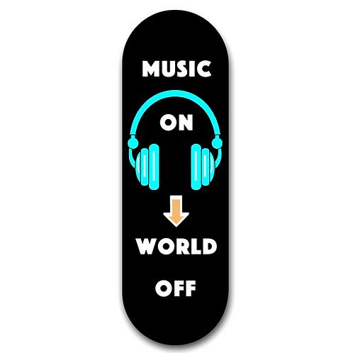 Regor Finger Grip,Selfie Holder Mobile Stand for iPhones & Android - Music