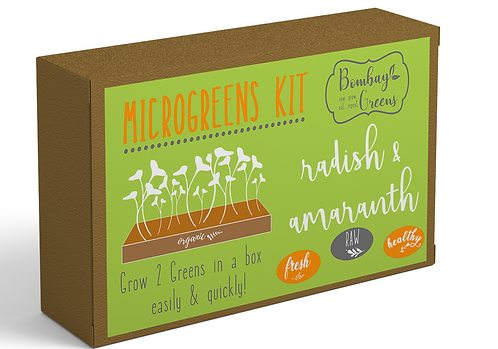 DIY Microgreens Kit - Amaranth & Radish