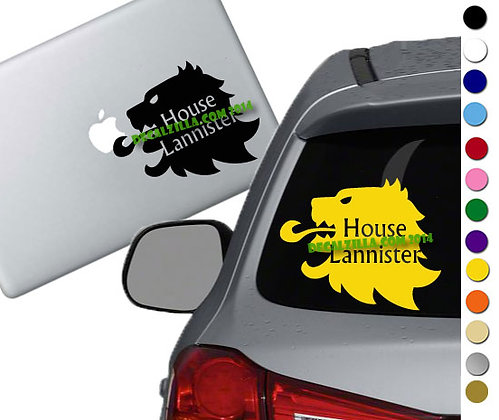 Game of Thrones- House Lannister - Vinyl Decal Sticker - For cars and more!