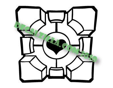 Sale! Portal - Companion Cube -Vinyl Decal Sticker For cars, laptops, and more!
