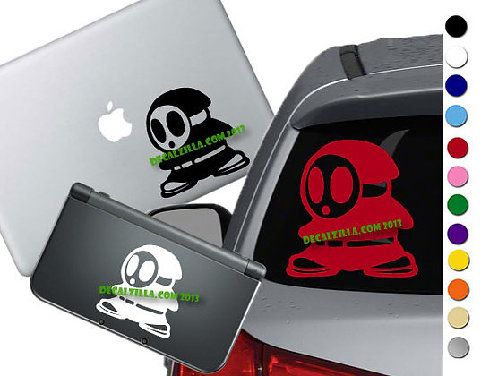 Mario - Shy Guy - Vinyl Decal Sticker For cars, laptops, and more!