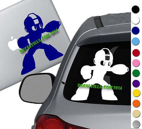 Mega Man Shoot - Vinyl Decal Sticker - For cars, laptops, and more!