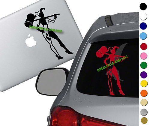 Harley Quinn - Vinyl Decal Sticker - For cars, laptops, and more!