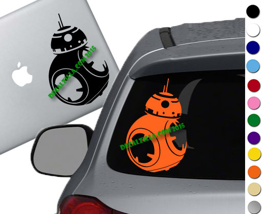 Star Wars - BB8 - Vinyl Decal Sticker - For cars, laptops and more!
