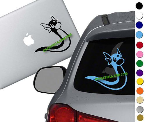 Pokemon - Dratini - Vinyl Decal Sticker - For cars, laptops and more!