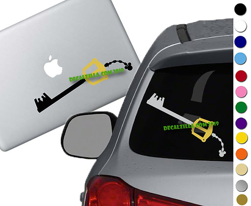 Kingdom Hearts - 2 Colored Keyblade - Vinyl Decal Sticker - For cars and more!