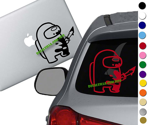 Among Us Imposter - Vinyl Decal Sticker - For cars, laptops, and more!