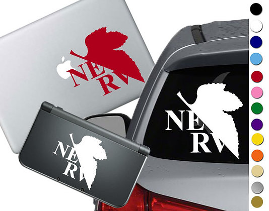 NERV Symbol - Vinyl Decal Sticker For cars, laptops, and more!