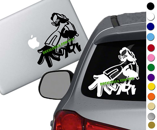 Anime Robot - Vinyl Decal Sticker - For cars, laptops and more!