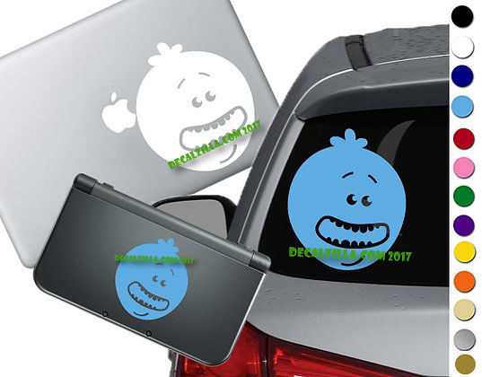 Rick and Morty - Mr. Meeseeks - Vinyl Decal Sticker For cars, laptops, and more!