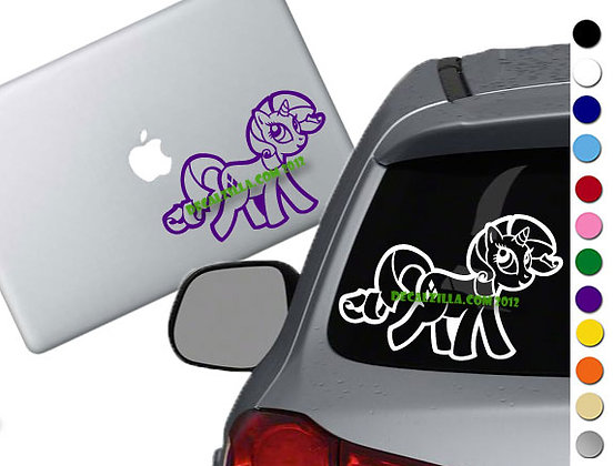 Sale! MLP Rarity -Vinyl Decal Sticker For cars, laptops, and more!