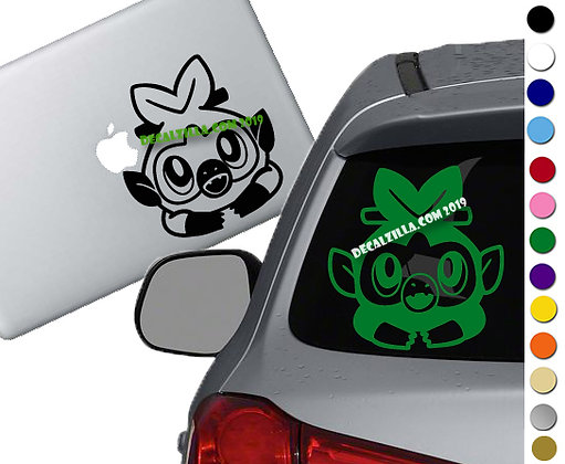 Pokemon- Grookey - Vinyl Decal Sticker - For cars, laptops and more!