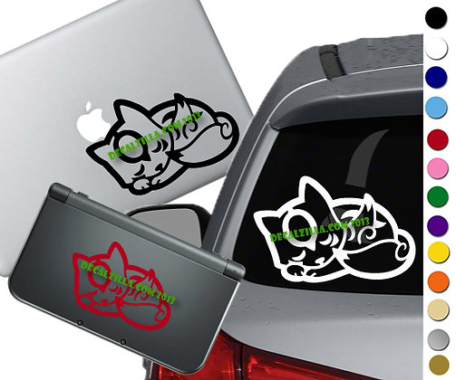 Okami Sleeping - Vinyl Decal Sticker For cars, laptops, and more!